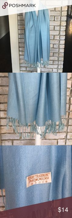 NWOT LIGHT BLUE PASHMINA SCARF Beautiful light blue pashmina scarf. Still have the original packing that it came in. Never been worn. Accessories Scarves & Wraps