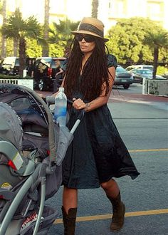 Lisa Bonet-pretty dreads. If I can look half as good as that out and about with my babies, I will be so happy.