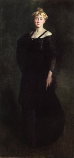 """Woman in Black (also known as Portrait of Mrs. Paul Bartlett)"" by John White Alexander"