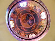 Themis Petrou - Τhree Prelates Chapel (athens, Greece) - Find Creatives Saint Anthony Church, Byzantine Icons, Nashville Tennessee, Athens Greece, Fresco, Religion, Scene, Artists, Creative