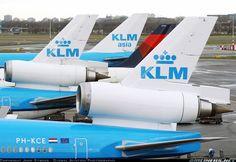 Dérives KLM, KLM Asia et Delta @ Amsterdam AMS/EHAM, Pays-Bas.