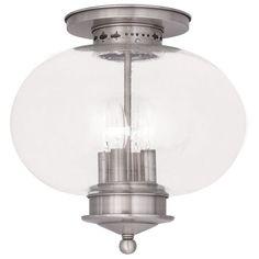 Livex Lighting Harbor Brushed Nickel Ceiling Mount 5038-91