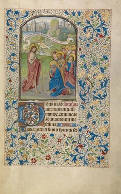 The Apostolic Mission; Willem Vrelant (Flemish, died 1481, active 1454 - 1481); Bruges, Belgium; early 1460s; Tempera colors, gold leaf, and ink on parchment; Leaf: 25.6 x 17.3 cm (10 1/16 x 6 13/16 in.); Ms. Ludwig IX 8, fol. 28; J. Paul Getty Museum, Los Angeles, California