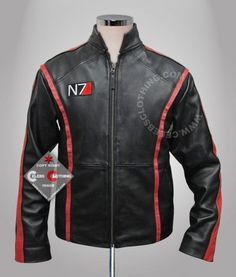 http://www.celebsclothing.com/products/Mass-Effect-3-Leather-Jacket.html  Buy Mass Effect 3 Leather Jacket Casual for sale. Online Cheap N7 Shepard Jacket Replica at Celebs Clothing Store. - #masseffect3 #masseffect #n7logo #masseffectgame #christmas #christmascostumes