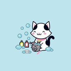It's shower time!! \ (^ ▽ ^) /