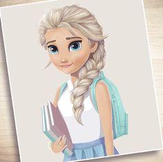 Elsa (Modern Fashion by KristenKReevesArt @Instagram) #Frozen