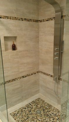 Double Line Mosaic Shower