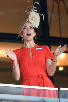 Although the Queen's horse was not victorious in the first race, Princess Mary of Denmark ...