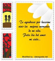 textos del dia del amor y la amistad para compartir por Whatsapp, mensajes del dia del amor y la amistad para compartir por Whatsapp: http://www.datosgratis.net/las-mejores-frases-de-san-valentin-para-mi-novia/