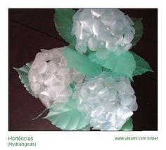 ortensia di plastica pet