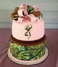 Mossy Oak + Browning birthday cake