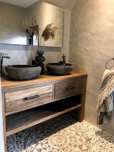 Badmöbel aus Holz Bad Inspiration Bathroom furniture made of wood bathroom inspiration Upstairs Bathrooms, Rustic Bathrooms, 50s Bathroom, Bathroom Modern, Bad Inspiration, Bathroom Inspiration, Furniture Inspiration, Bathroom Styling, Bathroom Interior Design