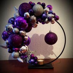Purple Christmas Decorations, Christmas Wreaths, Balloon Arch, Balloons, Winter Wonderland Christmas, All Things Christmas, Craft Gifts, Christmas Crafts, Creativity