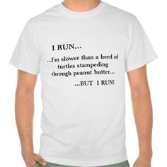 I Run - Funny Running slogan shirt - Clothes, fashion for women, men and teens