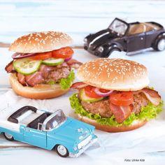 Original-Hamburger Hamburger, The Originals, American, Ethnic Recipes, Melted Cheese, Finger Foods, Cooking Recipes, Hamburgers, Burgers