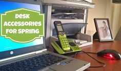 Desk Accessories for Spring - Green Cordless Phone from Vtech - via viewsfromtheville.com
