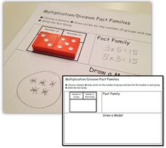 Math Coach's Corner: Dominoes Multiplication/Division Fact Families. Your students will get practice representing multiplication and connecting models to multiplication/division fact families with this little freebie!