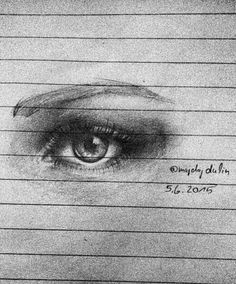 My drawing, eye