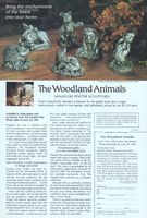 Franklin Mint Woodland Animals 1981 Ad Picture