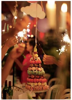 Having the guests hold sparklers while singing Happy Birthday is a great idea!