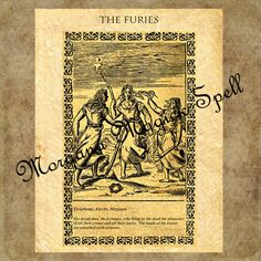 THE FURIES, Instant Download, Occult Symbol,Alchemy, Mythological,Clip Art, Digital Download, Occult Book of Shadows Page by MorganaMagickSpell on Etsy