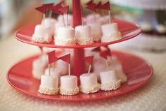 marshmallows on a stick.