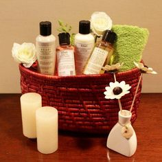 Treat her on wedding anniversary by sending a special Spa Gift Basket anywhere in India and international.