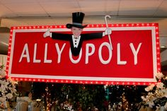 5 Bar & Bat Mitzvah Name Theme Ideas - Monopoly Theme Party Logo for Ally by Life O' The Party - mazelmoments.com