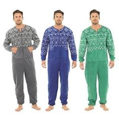 c7b72e73a98e a nuevo para hombre micro polar fairisle impresos todo en uno enterito  pijamas gris ml