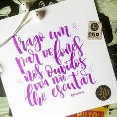 """Porque tem dias que o que mais queremos é não ouvir ninguém.  """"Um Som para Laio"""" #raulseixas #musica . . #caligrafia #calligraphy #feitoamao #arte #compredequemfaz #santos #baixadasantista #handmade #moderncalligraphy #typespire #handlettering #lettering #letteringbr #typography #design #art #inspiration #typism #instagood #gratidao #work #poster #brushpen #brushlettering #motivation"""