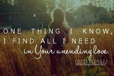 Unending love. Thank you Jesus.