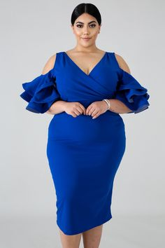 Discover thousands of images about Fun Flare Body-Con Dress Short African Dresses, Short Gowns, Latest African Fashion Dresses, Blue Plus Size Dresses, Plus Size Cocktail Dresses, Curvy Women Fashion, Plus Size Fashion, Plus Zise, Kids Dress Wear
