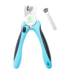 Best Dog Pet Nail Clippers and Trimmer - Quality Razor Sharp Stainless Steel Blades - Safety Stop to Prevent Overcutting - Non Slip Handles - Free Nail File - For Professional Easy Pet Grooming at Home * For more information, visit image link.