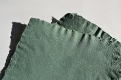 Green cotton / abaca paper by Boston Paper Collective Shop