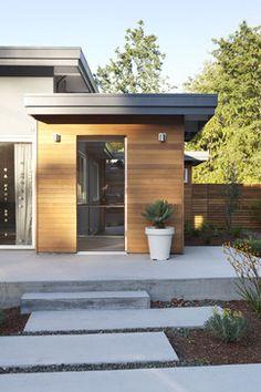 Exterior - front door and landing - midcentury - Exterior - San Francisco - Klopf Architecture