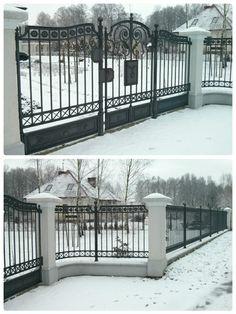 Graphite wrought iron fence Kute ogrodzenie w kolorze Grafit