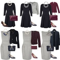 Mix-and-Match. When building your business or presentation wardrobe, start with basics that you can pair with multiple pieces.  Neutral colors and classic styles should be the backbone of your wardrobe so that you can pair them with more eye-catching accessories. ----- For more business, communication, strategic branding, and public speaking tips, visit www.HugSpeak.com