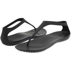 Crocs Sexi Flip (Black/Black) Women's Sandals (120 PLN) ❤ liked on Polyvore featuring shoes, sandals, flip flops, crocs, flip-flop sandals, black sandals, black slip resistant shoes, black slip on shoes and slip-on shoes