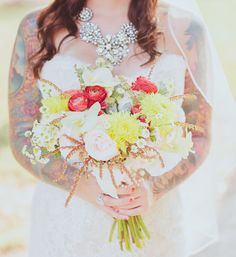 bright and summery bouquet