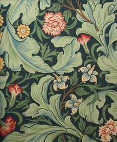 Lovely Arts And Crafts / Art Nouveau Style Printed Decorative Tile William Morris -taken from an original wallpaper design William Morris Tapet, William Morris Wallpaper, William Morris Patterns, Morris Wallpapers, Wallpaper Wallpapers, Arts And Crafts For Teens, Art And Craft Videos, Easy Arts And Crafts, Arts And Crafts Projects