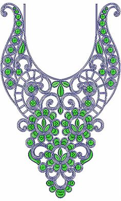 Saudi Arabian Neck Embroidery Design