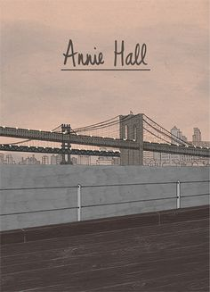 Annie Hall (1977) ~ Minimal Movie Poster by Daniela Manzotti #amusementphile
