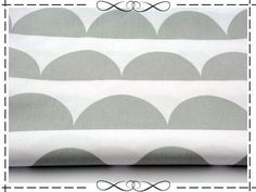 Stoff grafische Muster - Baumwolle, Halbkreis, half moon, Halbmond, grau - ein Designerstück von imagine-shop bei DaWanda