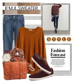 """""""Fall Sweater Weather..."""" by glamorous09 ❤ liked on Polyvore featuring Polaroid, 7 For All Mankind, Madewell, White Label, FOSSIL and ClaireChase"""
