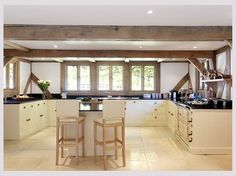 A traditional style oak frame home full of light and space in Surrey. Oak Frame House, Self Build Houses, Timber Beams, Post And Beam, Light And Space, Building A House, Traditional, Interior Design, Gallery