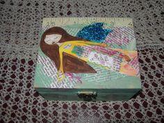 Fly like a Fairy  Mixed media wooden art box/keepsake by eltsamp, $25.00