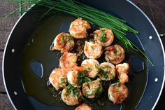 shrimps with oil and garlic by olivedip.com
