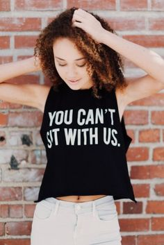 2cb656cb 'You can't sit with us' tank top Brandy Melville Mean Girl's inspired crop  top Brandy Melville Tops Muscle Tees