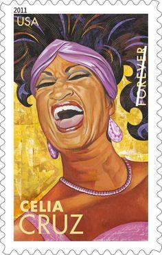 Celia Cruz Commemorative U.S. Postal Stamp