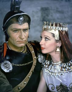 British actors Laurence Olivier and Vivien Leigh are 'Caesar and Cleopatra' in the play written in 1898 by George Bernard Shaw, and performed at London's St James's Theatre, 1951. (Photo by Sunset Boulevard/Corbis via Getty Images) via @AOL_Lifestyle Read more: https://www.aol.com/article/entertainment/2017/09/28/the-lost-love-letters-of-vivien-leigh-and-laurence-olivier/23226061/?a_dgi=aolshare_pinterest#fullscreen